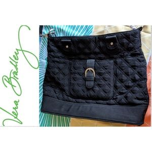 Vera Bradley Black Quilted Shoulder Bag